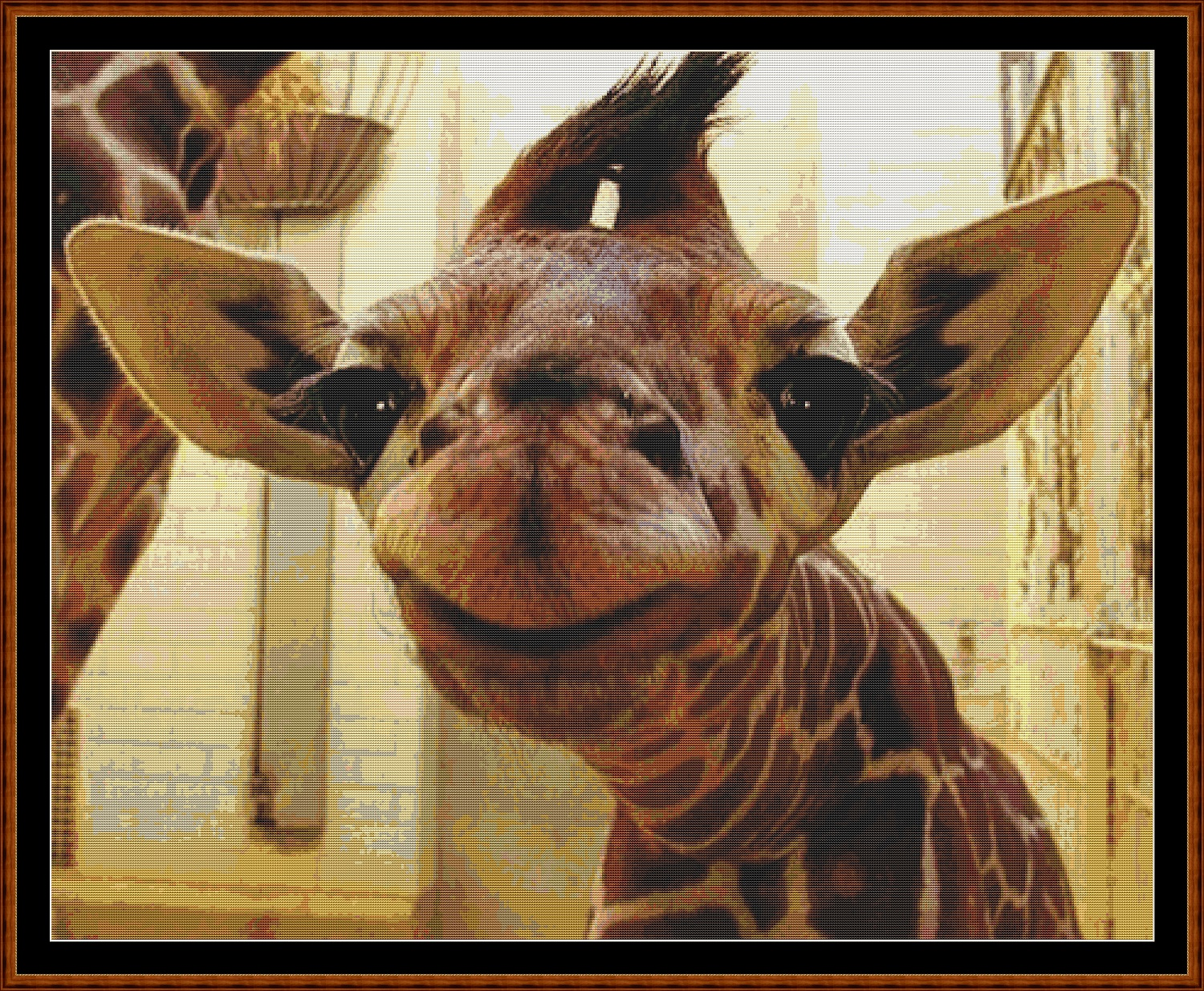 Giraffe Baby Cross Stitch