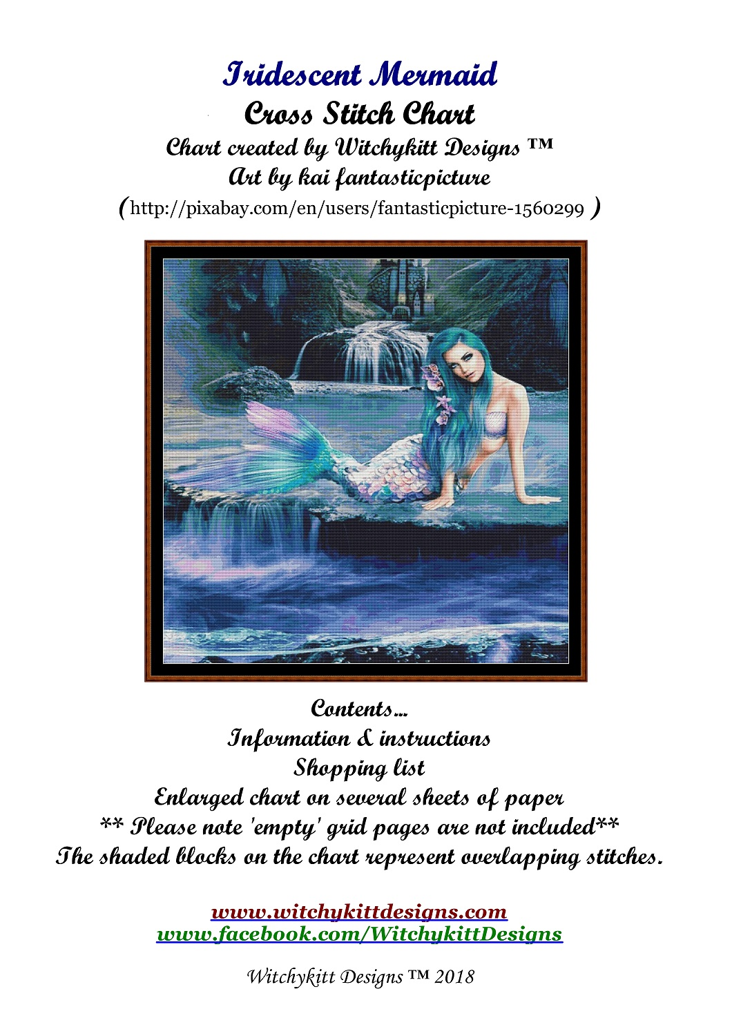 Iridescent Mermaid Cross Stitch