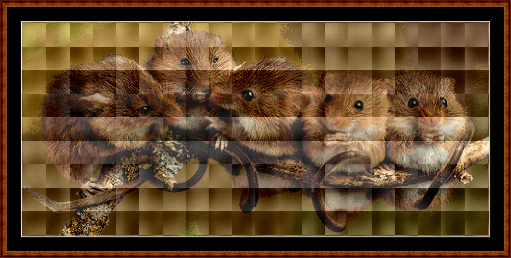 Mouse Committee Cross Stitch