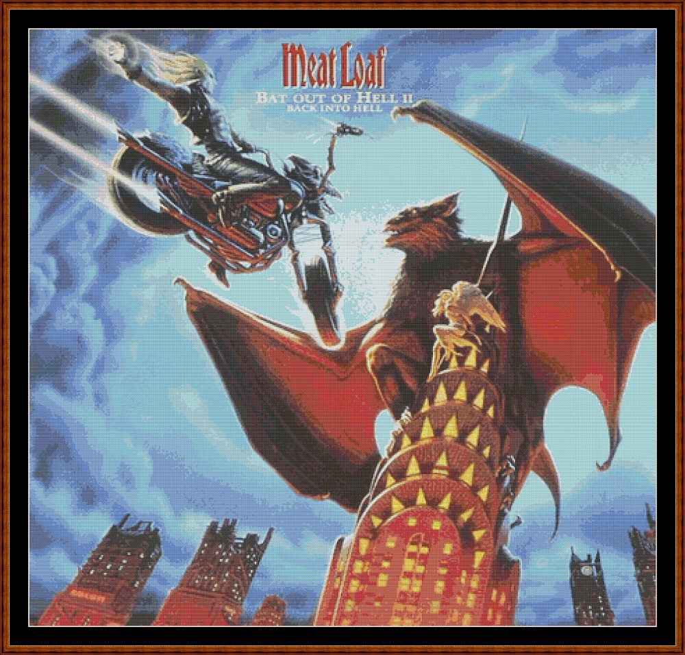 Meat Loaf - Bat Out Of Hell II Cross Stitch