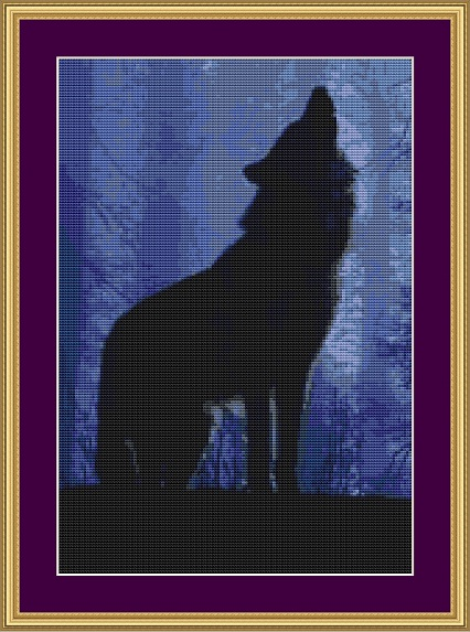 Howling Cross Stitch