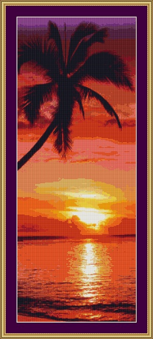 Sunset 2 Cross Stitch