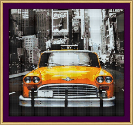 Taxi Cab Cross Stitch