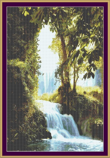 Waterfall Cross Stitch