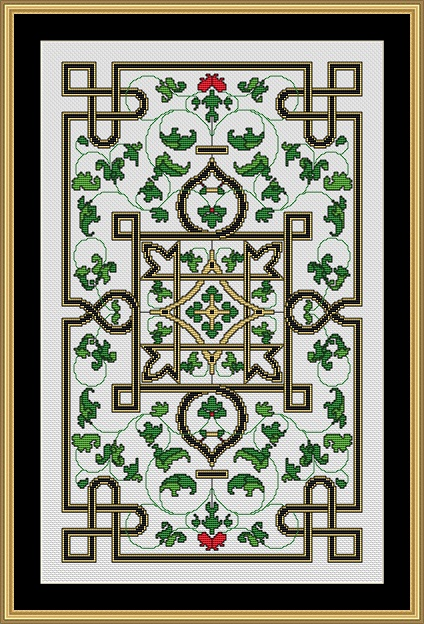 Golden Knot Garden Cross Stitch