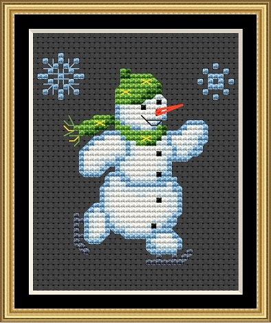 Snowmen - The Skater Cross Stitch
