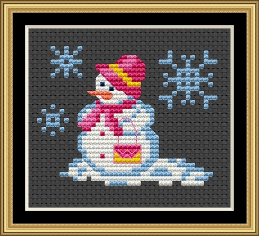 Snowmen - The Shopper Cross Stitch