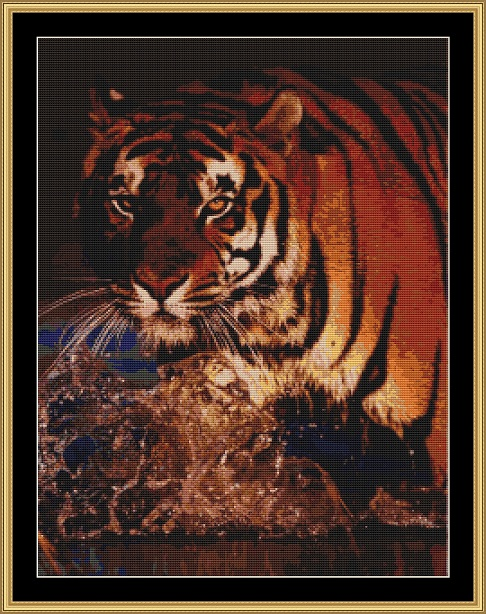 Bengal Tiger Cross Stitch
