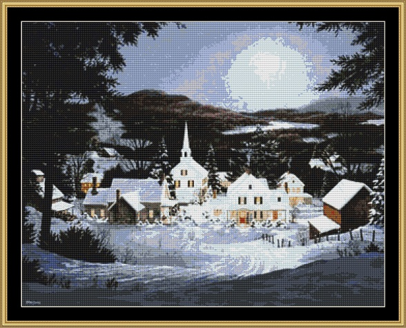 A Winter's Day Cross Stitch