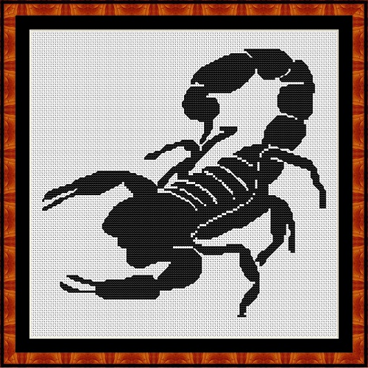 Silhouette - Scorpion Cross Stitch