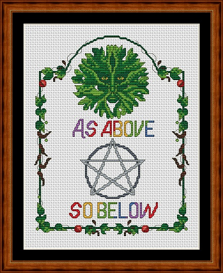 Green Man Cross Stitch