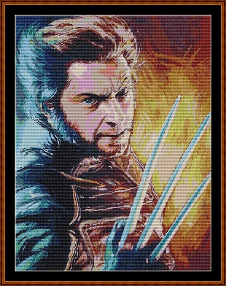 Wolverine Cross Stitch
