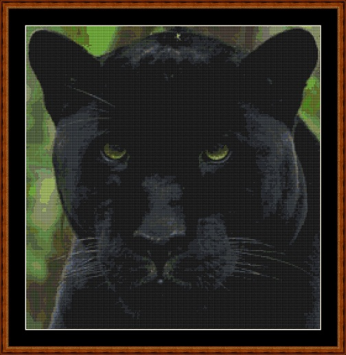 Panther Cross Stitch