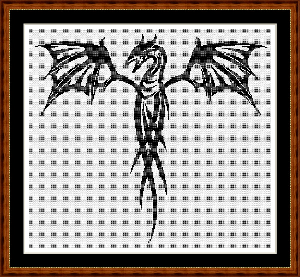 Tribal Designs - Dragon Cross Stitch