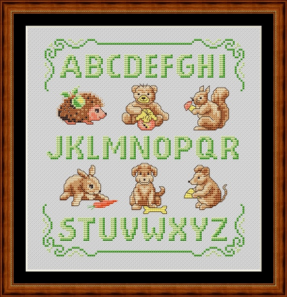 Animal Sampler Cross Stitch