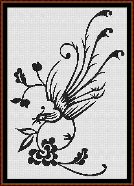 Paradise Bird Cross Stitch