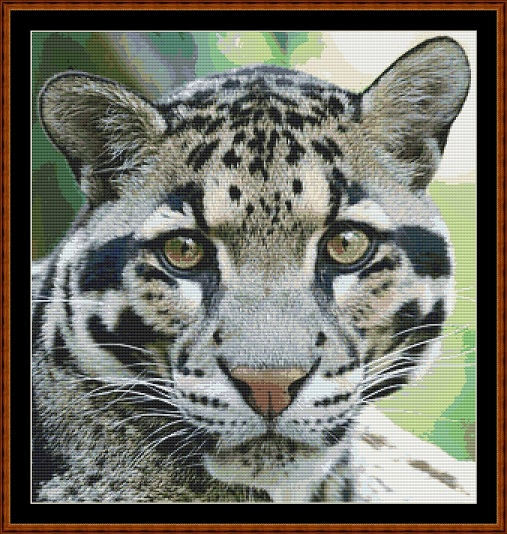 Clouded Leopard Cross Stitch