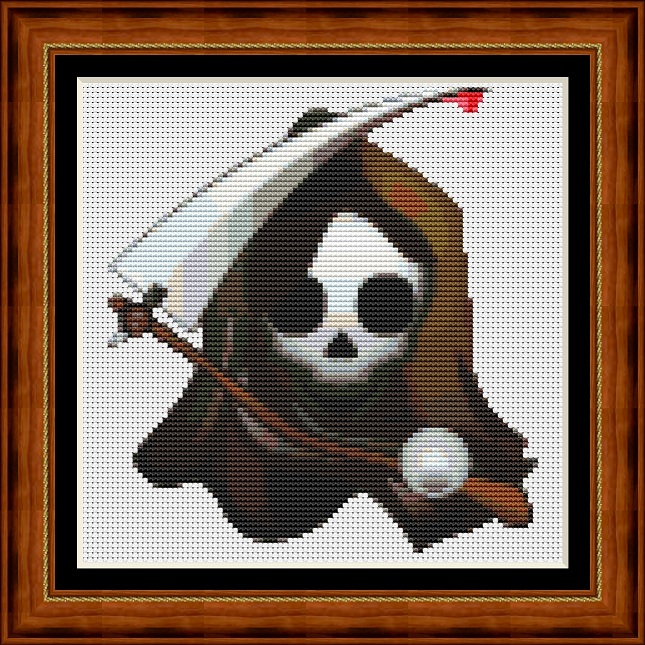 Smiley Grim Cross Stitch