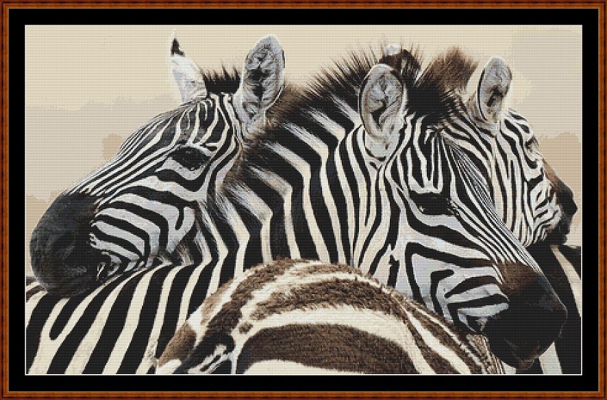 Zebras 3 Cross Stitch