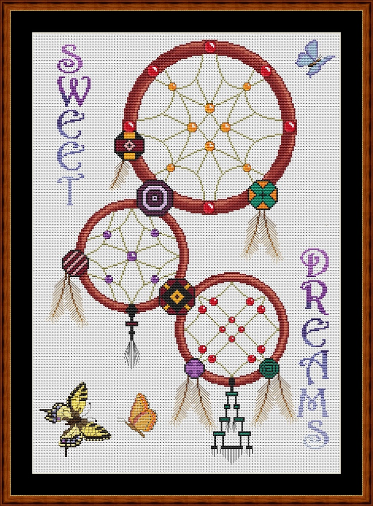 Dreamcatcher - Sweet Dreams Cross Stitch