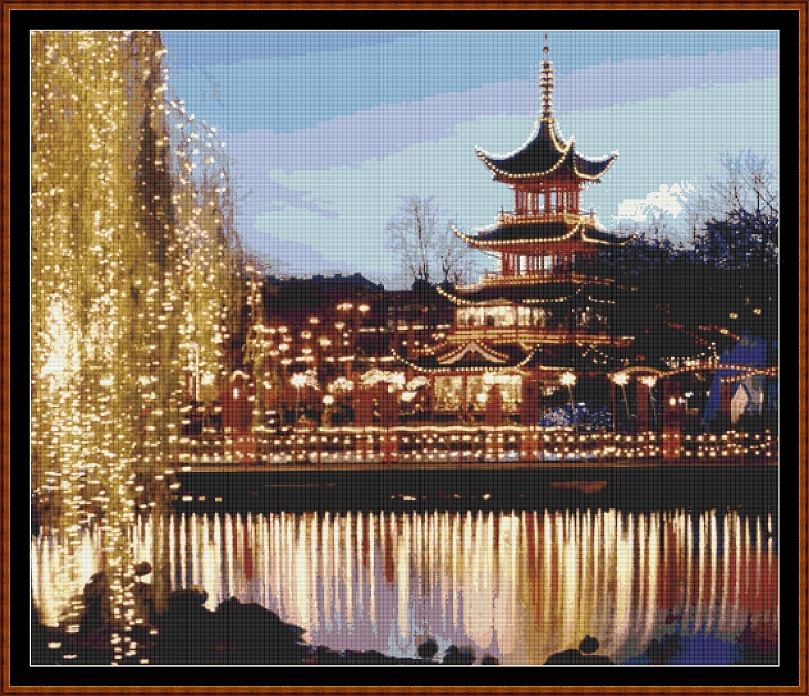 Tivoli Gardens Cross Stitch