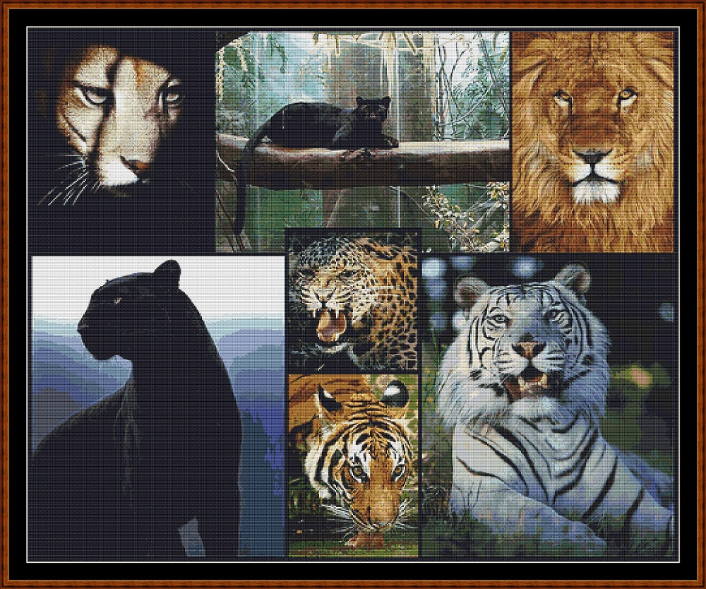 Big Cats Cross Stitch