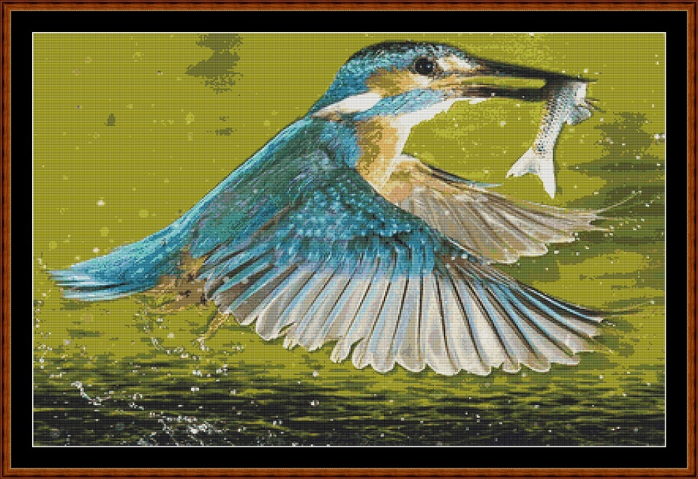 Kingfisher 2 Cross Stitch