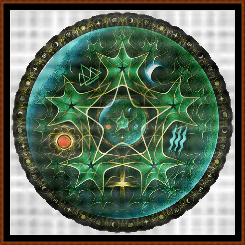 Witch's Pentacle Cross Stitch