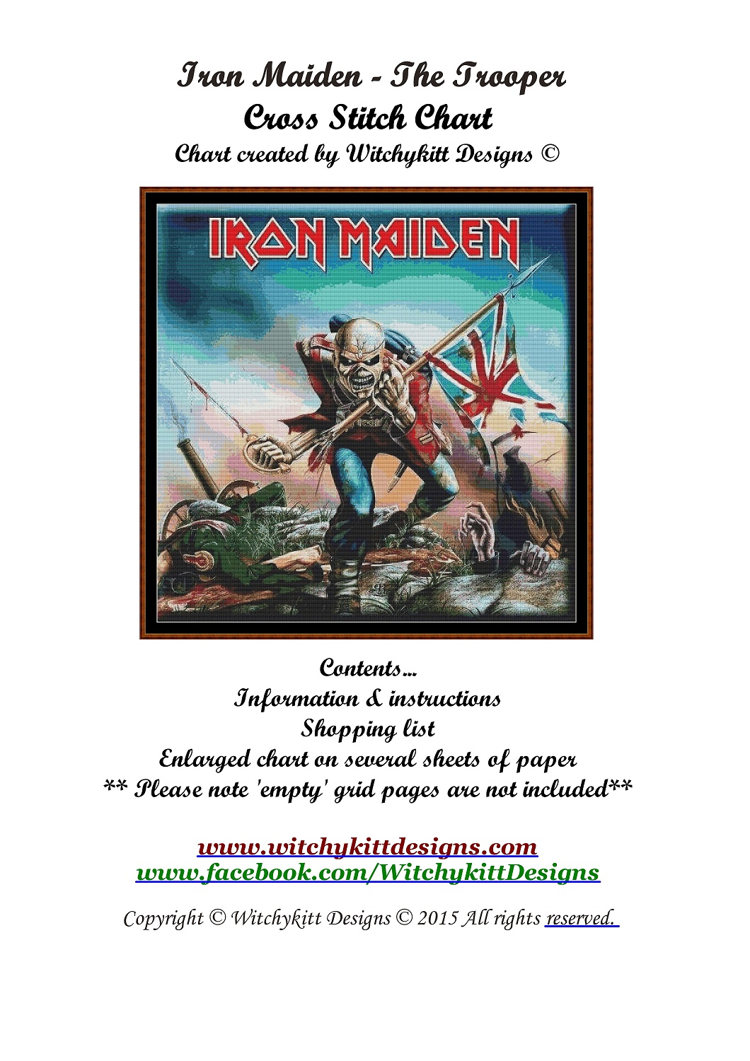 Iron Maiden - The Trooper Cross Stitch