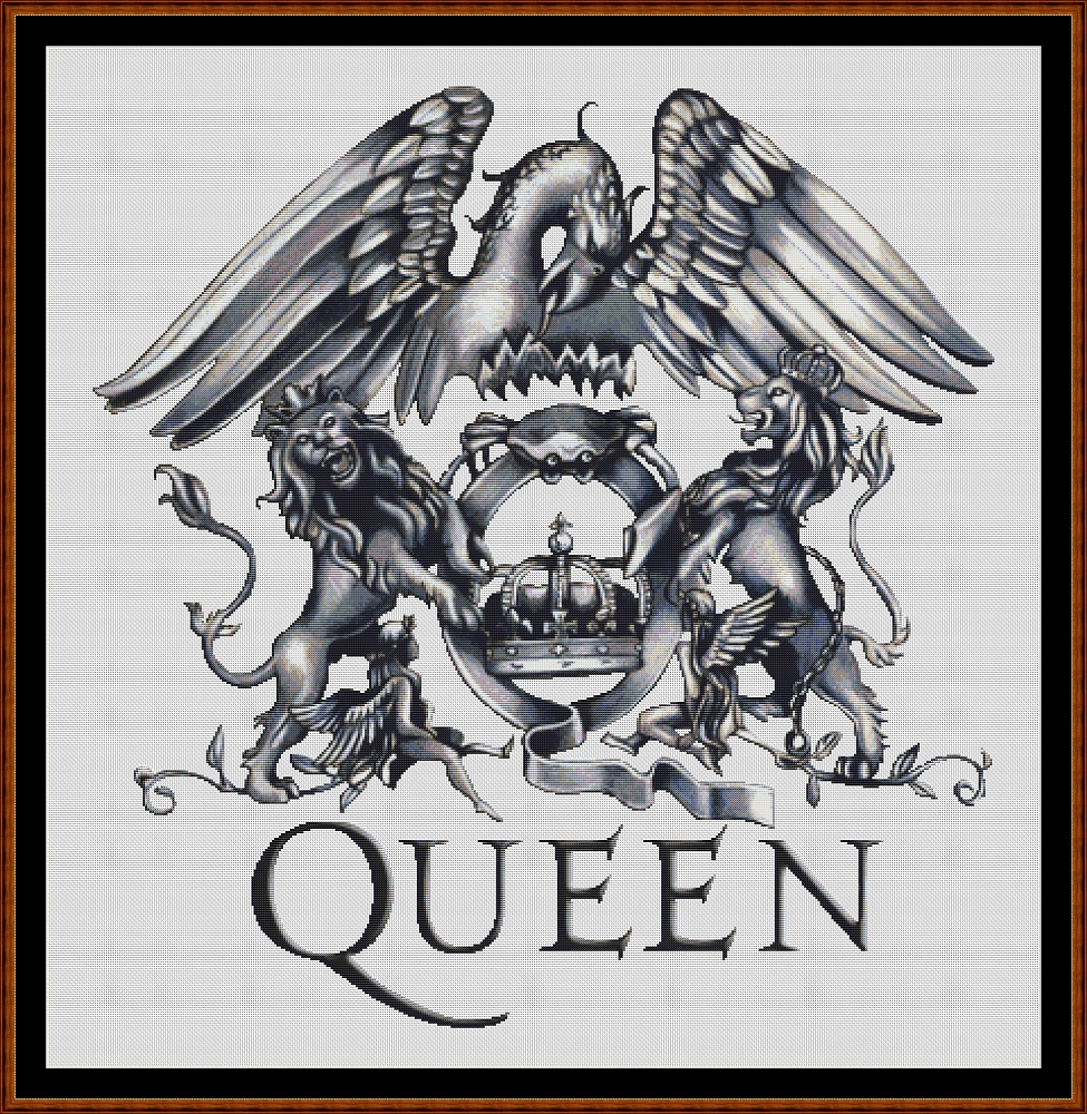 Queen Logo Cross Stitch [band group music cover album art] - $4 60
