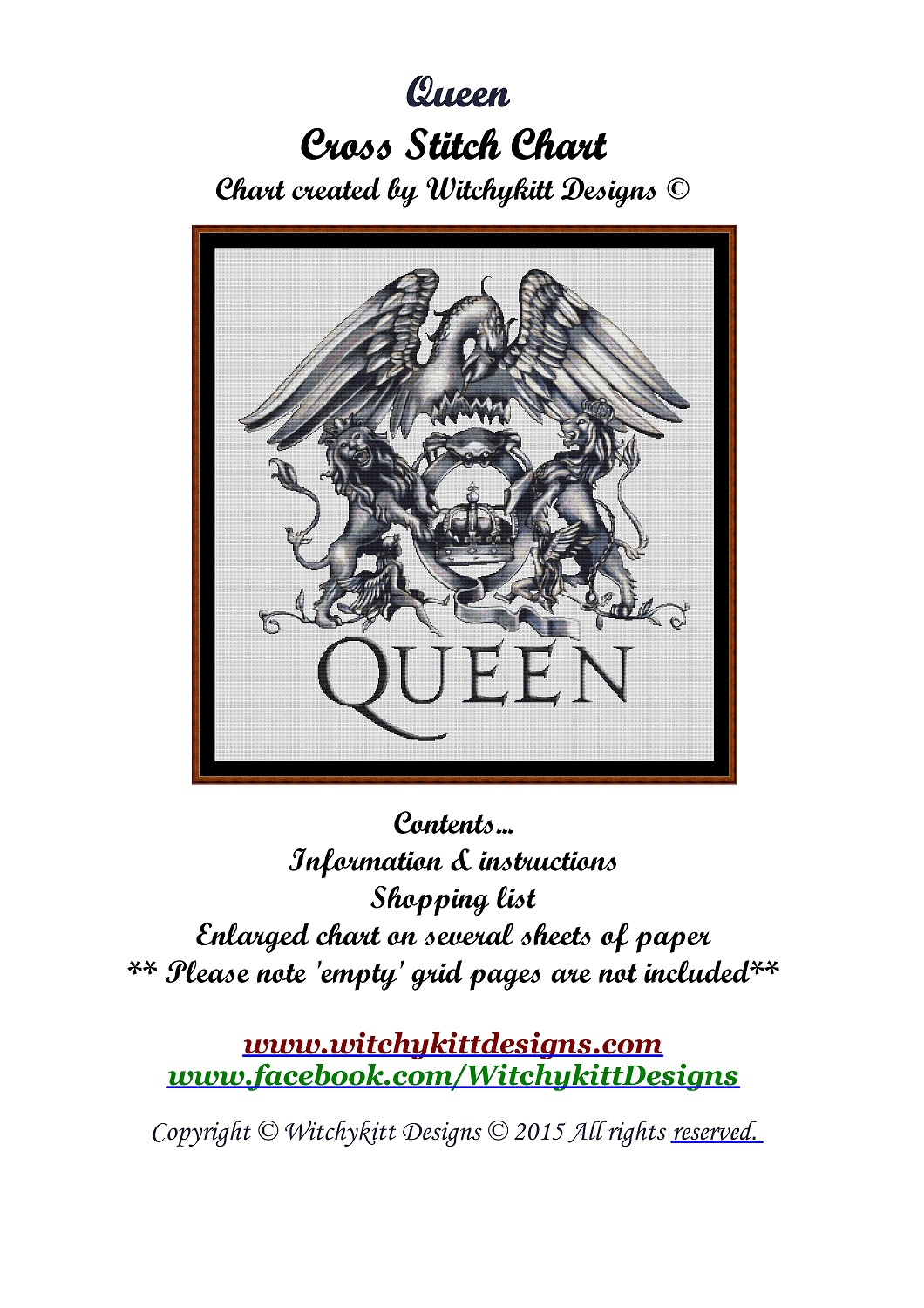 Queen Logo Cross Stitch