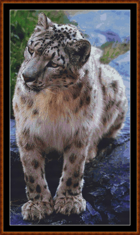 Snow Leopard Cross Stitch