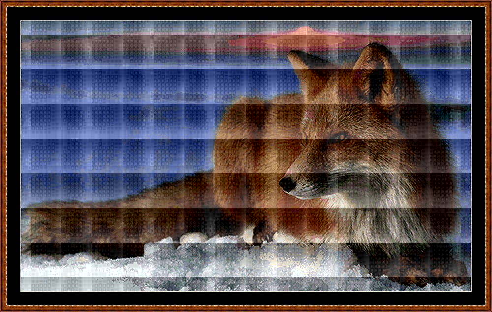 Red Fox Cross Stitch