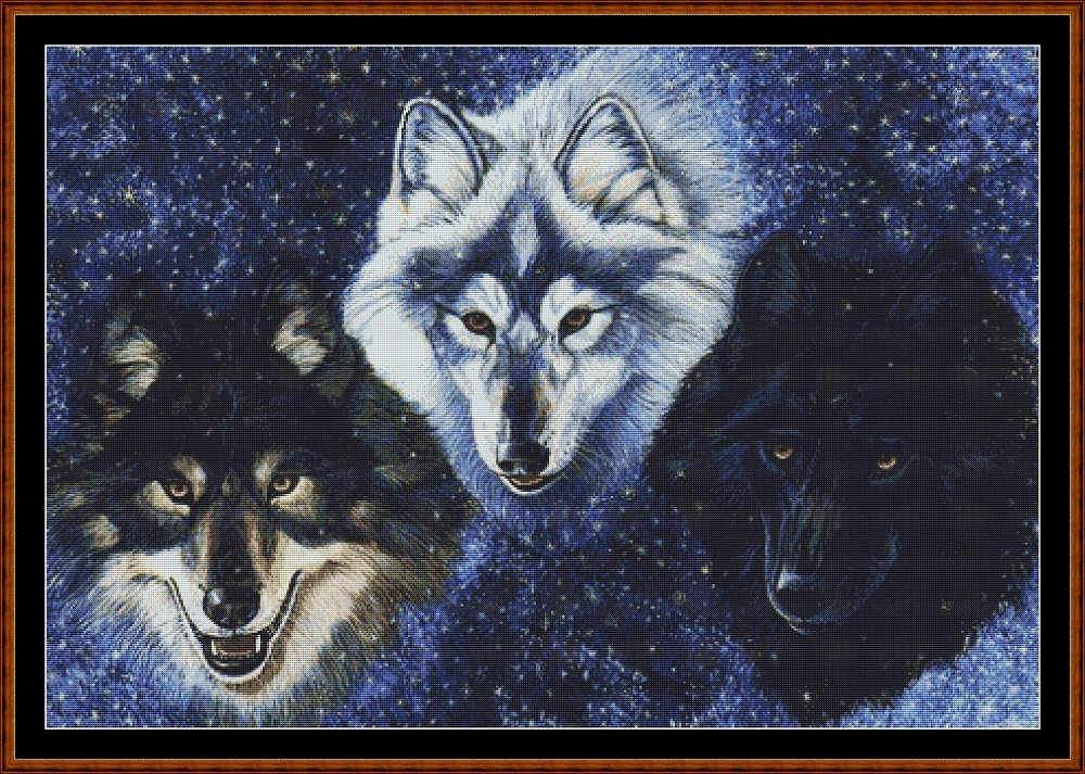 Wolves Cross Stitch