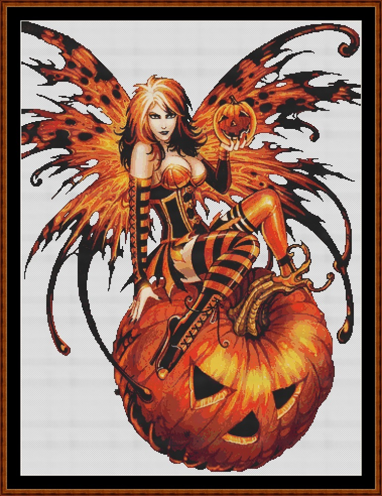 Samhain Fairy ( Without Background ) Cross Stitch