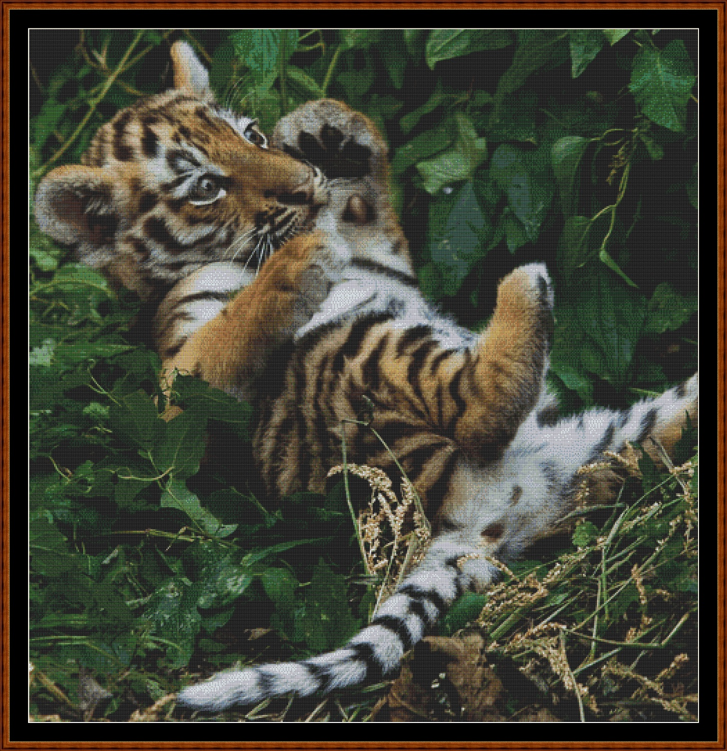 Tiger Kitty Cross Stitch
