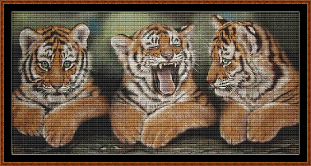 Tiger Kitties Cross Stitch