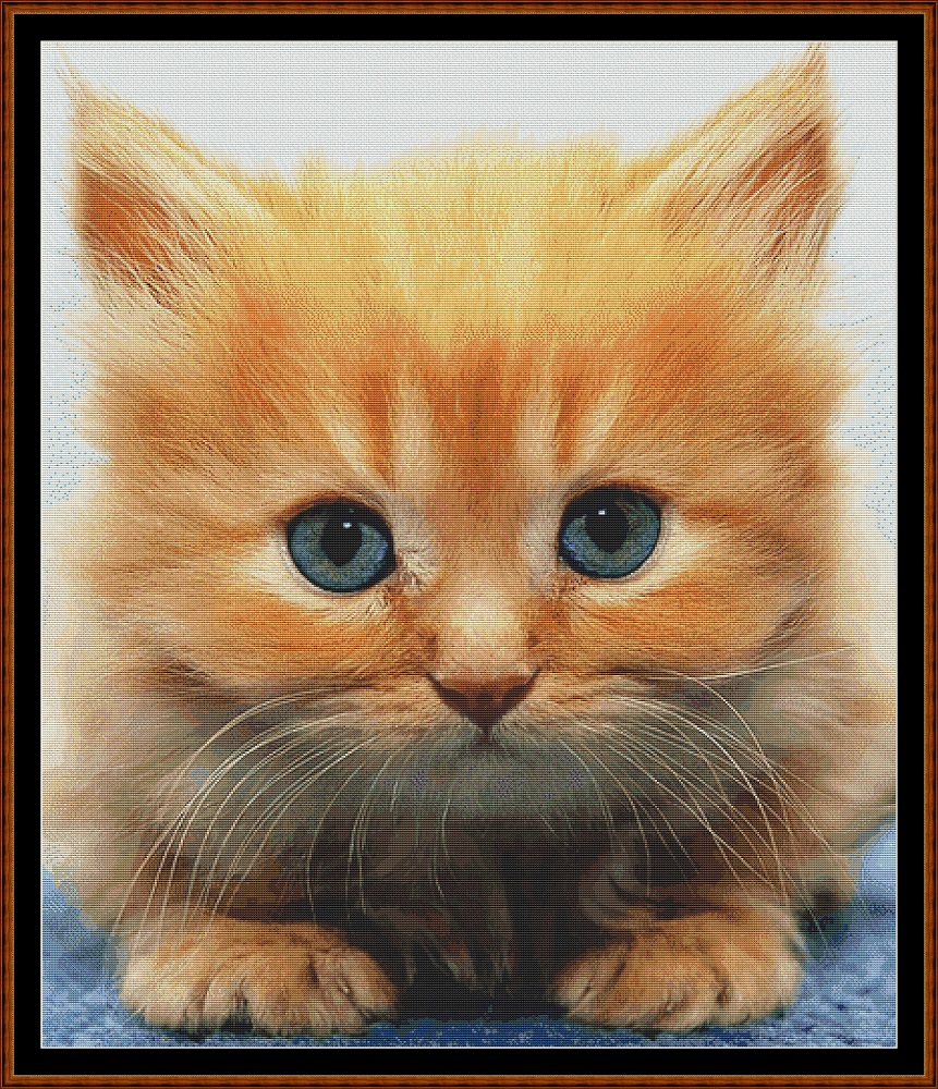 Ginger Kitten Cross Stitch