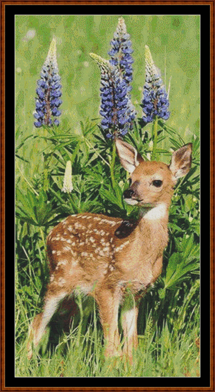 Baby Deer Cross Stitch