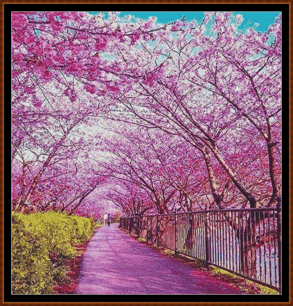 Spring Walk Cross Stitch