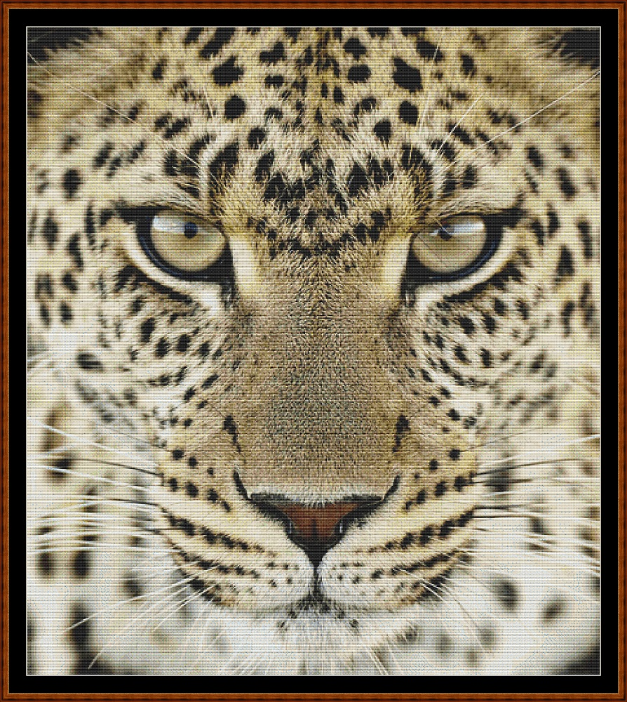 Leopard ! Cross Stitch