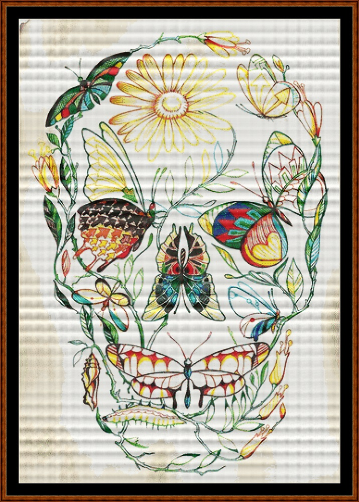 Butterfly Skull Cross Stitch