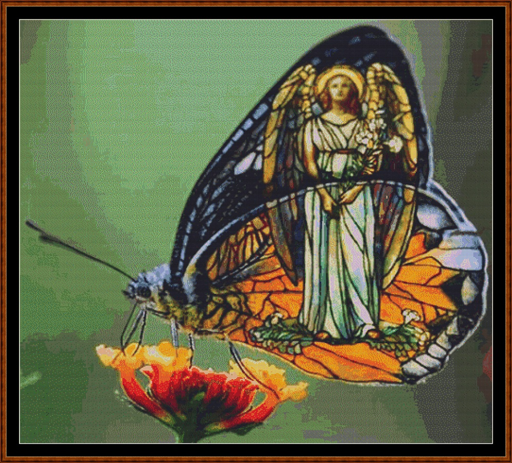 Butterfly Glass Cross Stitch
