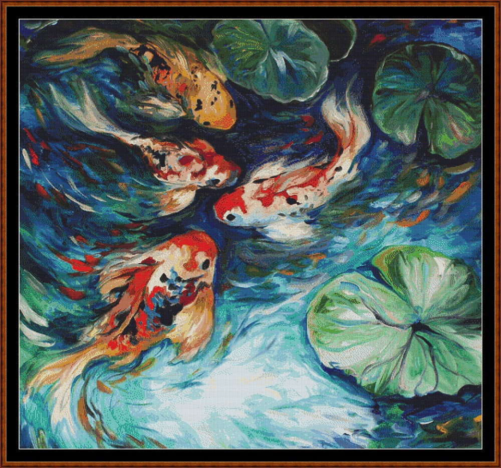 Fish Pond Cross Stitch