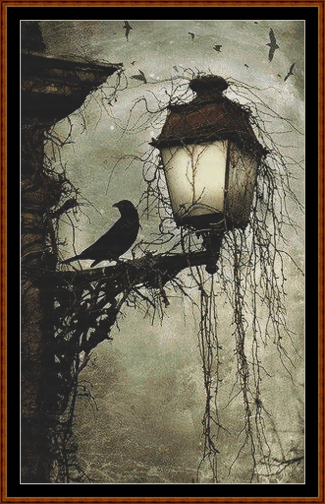 Lamp Light Cross Stitch