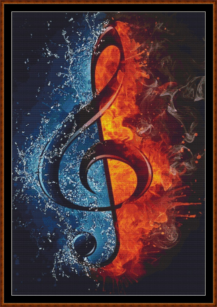 Hot & Cold Music Cross Stitch