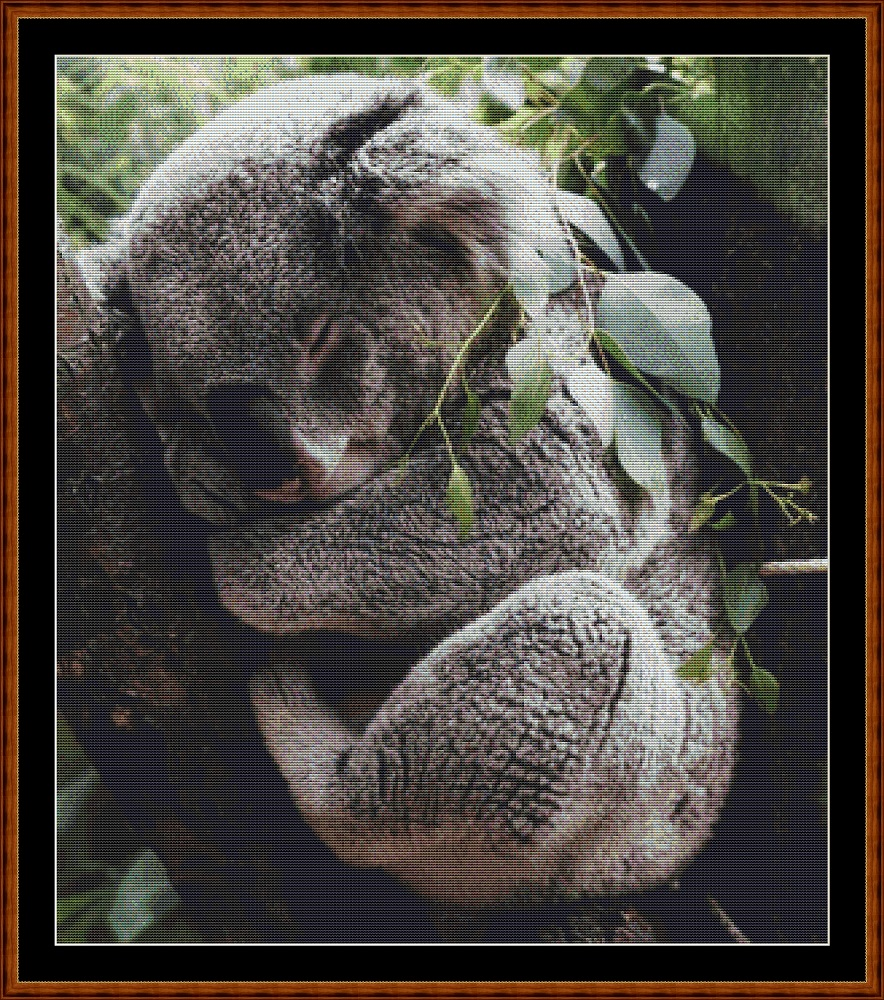 Sleepy Koala (SMALL) Cross Stitch