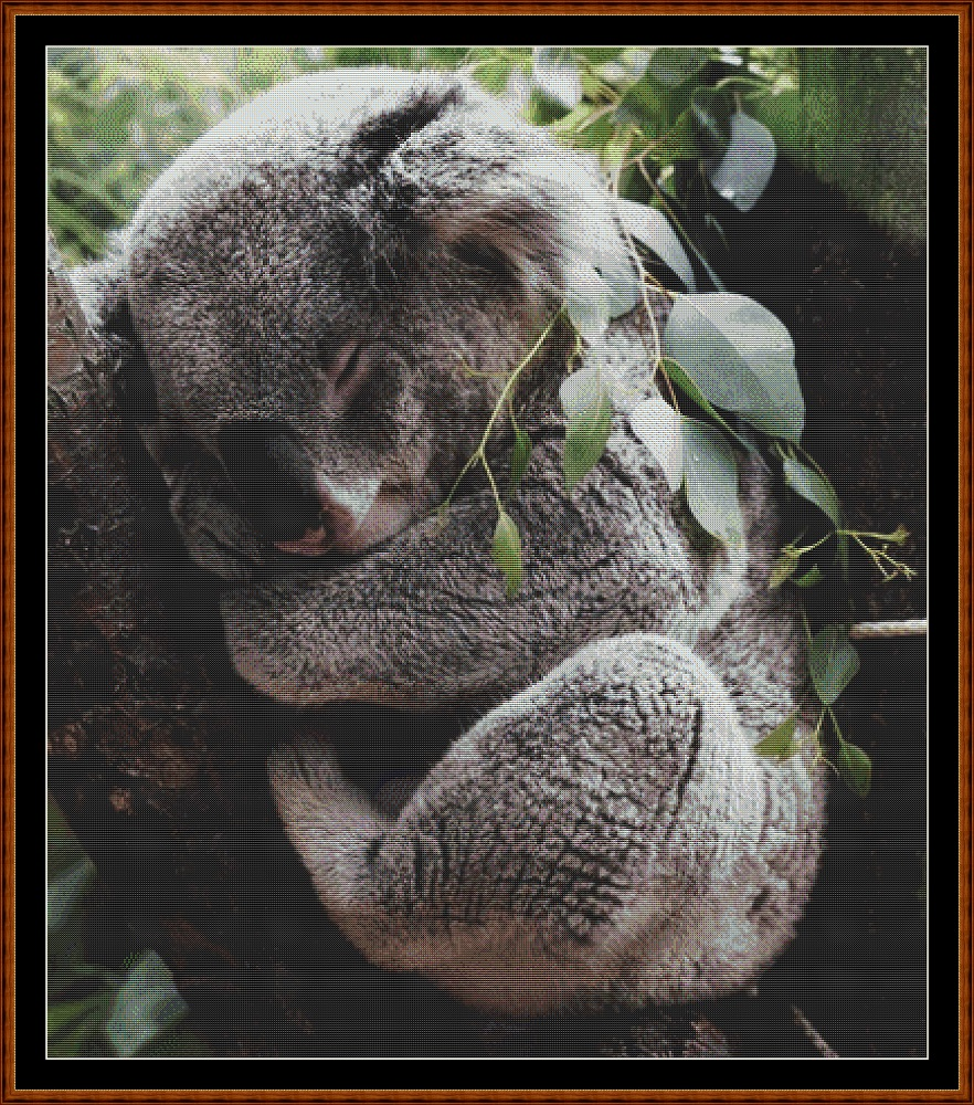 Sleepy Koala Cross Stitch