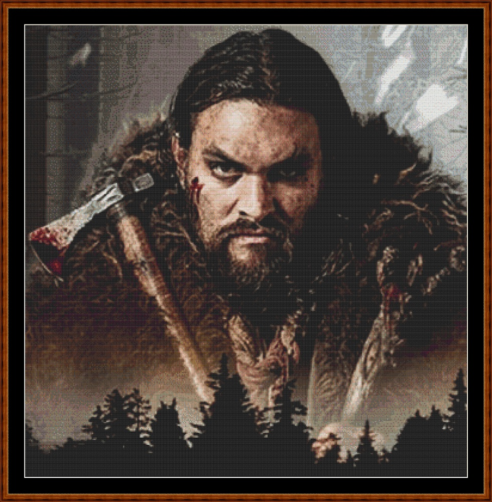 Frontier Man Cross Stitch