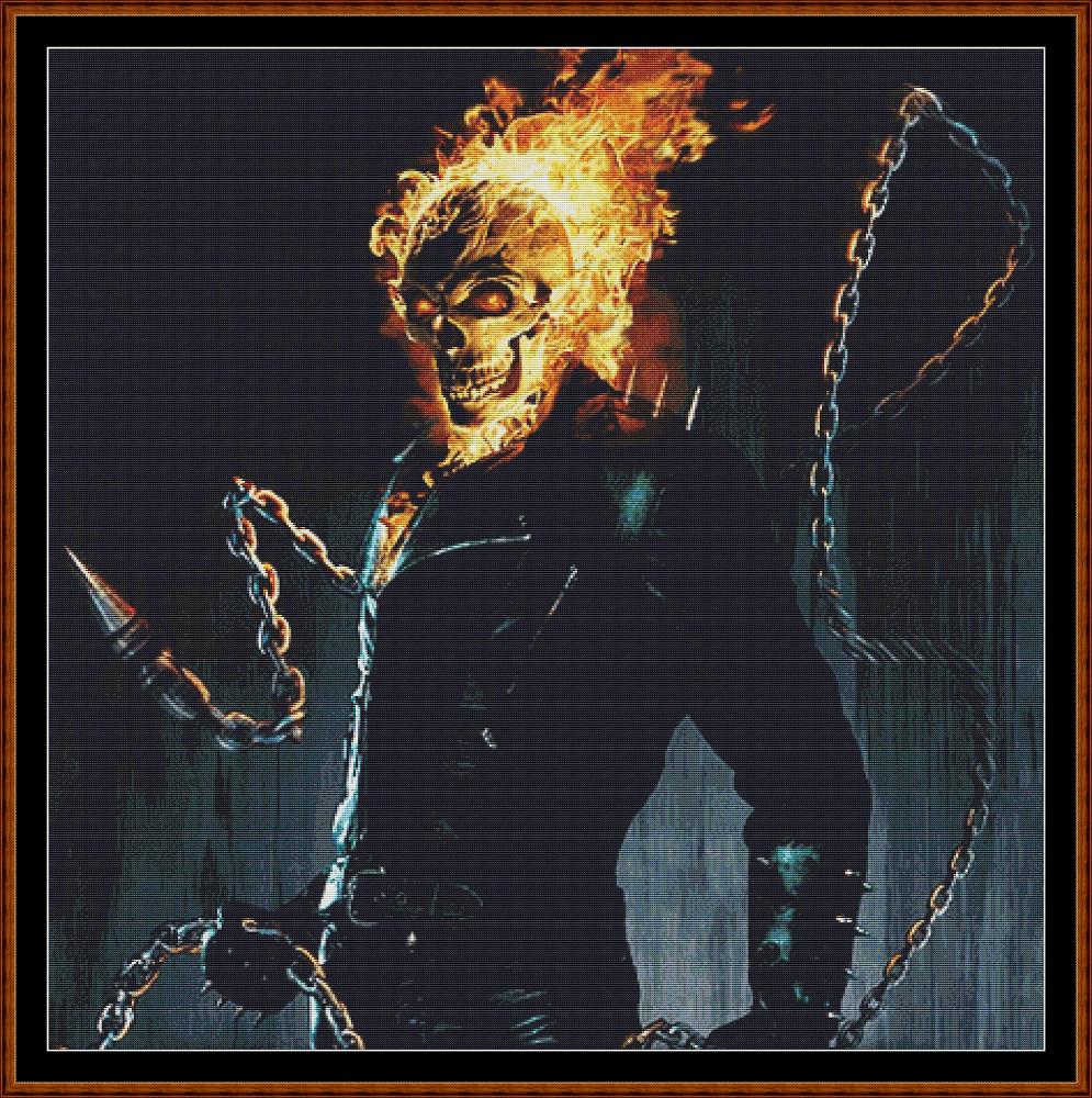 Ghost Rider Cross Stitch